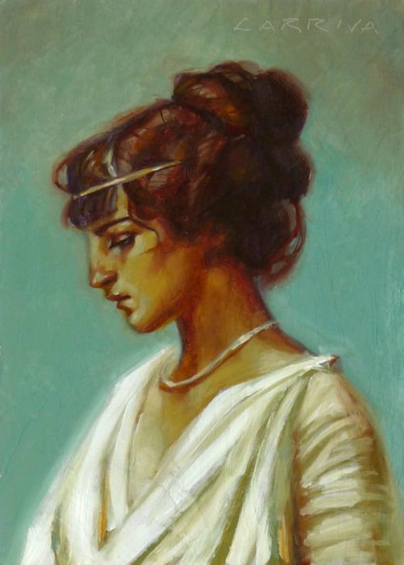 Roman Girl - Original Oil Painting