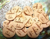 custom personlized wooden hang tags or labels