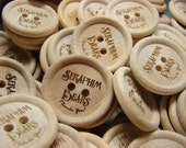 buttons made to order rimmed wooden clothing buttons custom engraved one inch