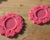 Vintage Cellulose Pink Pendants