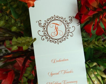 100 Custom Tiered Wedding Programs - Fully Assembled