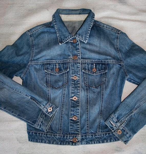 Great Vintage Fitted Denim Jacket Gap
