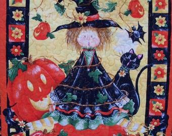 Halloween Quilted Wallhanging Halloween Decor Door Banner