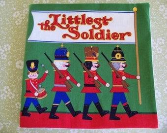 Christmas Fabric Book Children's Book The Littlest Soldier Soft Book
