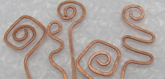 Wholesale Copper Hair Shawl Stick Pins. Set of 5.REDUCED.