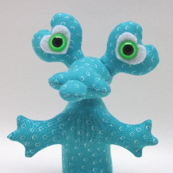 Denason, Adopt an Alien, OOAK Creature Toy with Birth Certificate