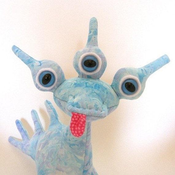 SALE Aline, Adopt an Alien, OOAK Creature Toy with Birth Certificate