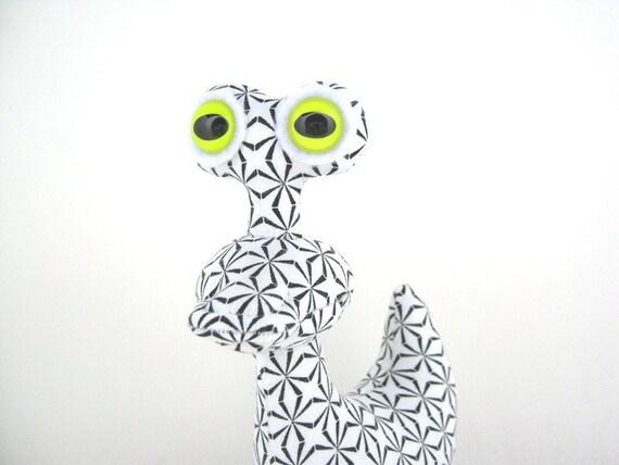 ON HOLD for Feli Alien Plush, Stuffed Dinosaur Monster Dragon Toy by Adopt an Alien named Raptor