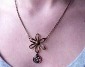 dark floral necklace
