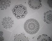 Mandala  Coloring  Images on CD  - 123 Printable Images  -  Set 7