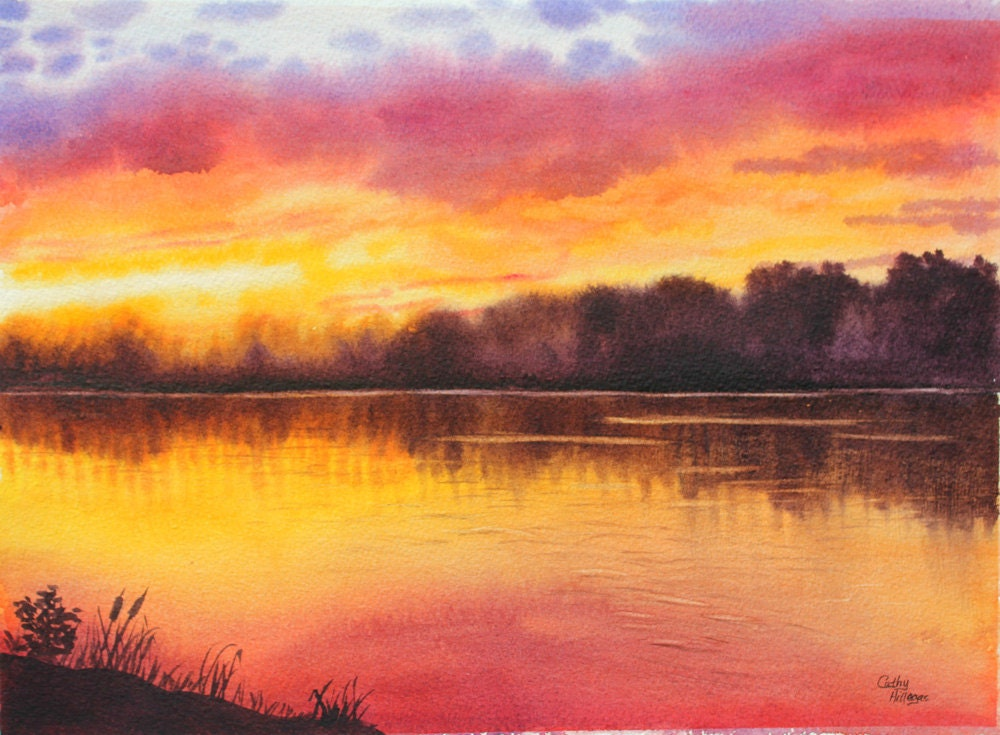 Easy Sunset Ocean Seascape Acrylic Painting Tutorial