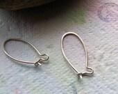 3 pair Mini Kidney 22 gauge Sterling Silver Ear Wires - Handmade by PeaceDoveDesigns