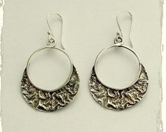 Sterling silver earrings, dangle earrings, every day earrings, simple earrings, oxidized earrings, long earrings, unique - Orion E2122