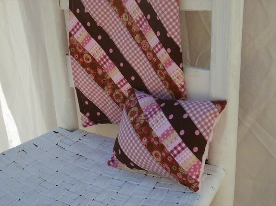 Baby Blanket - Pink and Brown