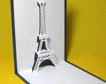 Eiffel Tower in Paris Pop Up Card