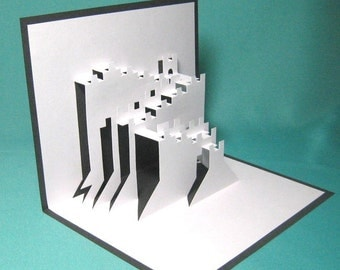 The Great Wall in China Pop Up Card