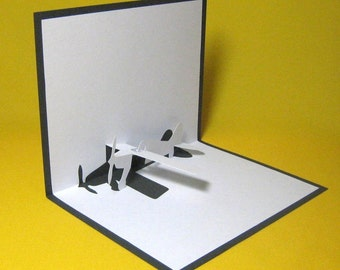 Aeroplane Pop Up Card
