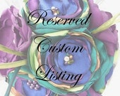 Reserved Custom Listing for Anastacia - Deposit for Bridal Bouquet, Corsages, & Bouts