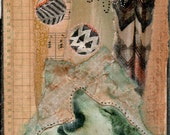 reserved for Cindie :  Wolf Medicine Original Mixed Media Piece