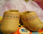 Cutest Little Vintage Grass Childs Slippers, For Displays etc.