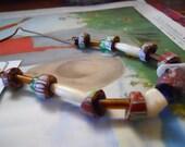 ANTIQUE ORIGINAL GLASS Trade Beads,Necklace Earth Tones