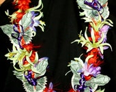 Hawaiian Silk Flower Money Lei