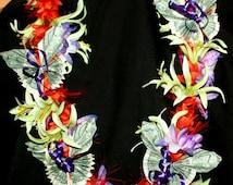 Hawaiian Silk Flower Money Lei