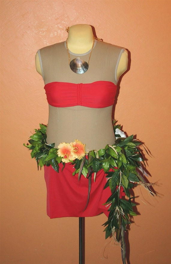 Versatile Hand Tied Hei with Greenery and Hibiscus or Plumeria Flowers
