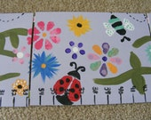 Foldable Children's Growth Chart, Girly Bugs