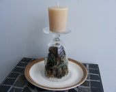 Glass Candle Holder, Short and Earthy