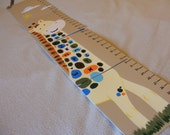 Foldable Children's Growth Chart, ABC Giraffe