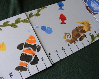 Foldable Children's Growth Chart, Underwater
