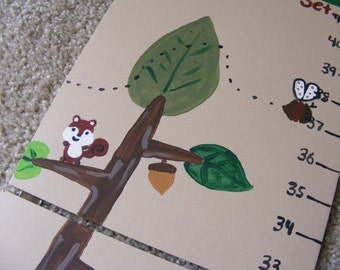 Foldable Children's Growth Chart, Woodland Creatures