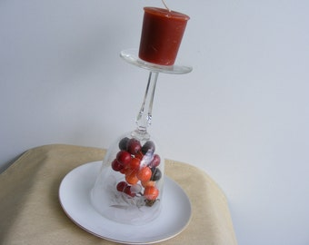 Glass Candle Holder, Harvest Ball