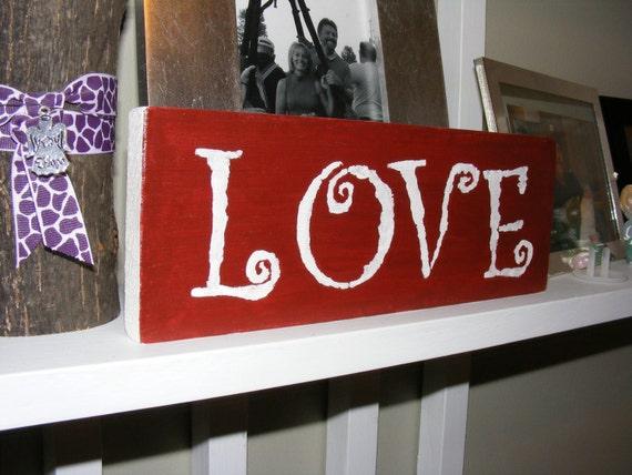 Door Jam Sign, Love