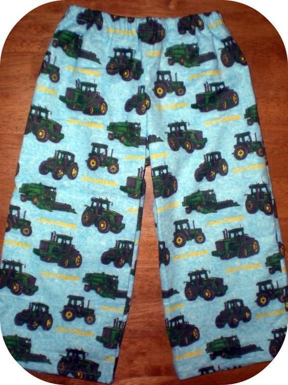 Jd Handmade Creations: Handmade John Deere Tractors Pajama Pj's Lounge Flannel
