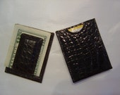 Alligator Sport Wallet credit card case with money clip