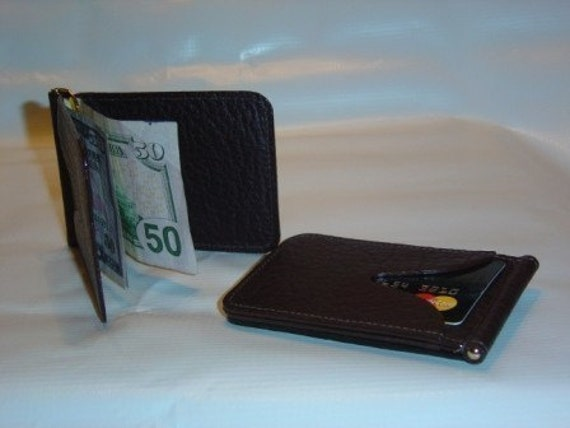 Credit card case with spring money clip