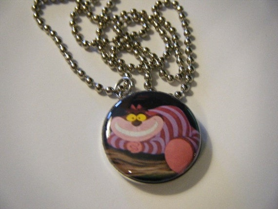 cheshire cat in pendant necklace
