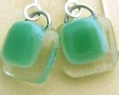 Fern Green Simple Drop Earrings