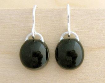 Simple Black Earrings