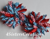 Small Korker Set Custom Print Dr Seuss Blue Mist and Red Stripes