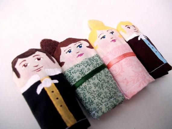 Pride and Prejudice Finger Puppet Set