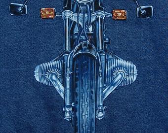 Custom Motorcycle Paintings on Denim