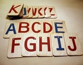 "Sandpaper Letters Uppercase mounted on 3""x5"" birch"