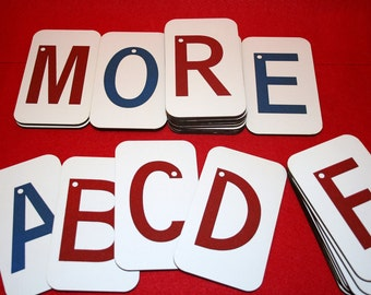 "UPPERCASE Sandpaper Letters on 3""x5"" Fiberboard Wood"