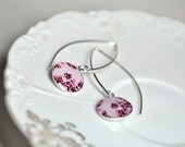 CANDY. Eclipse dangle earrings.    (Sterling Silver)