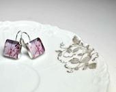 CANDY. Lever-back dangle earrings. (Sterling Silver)