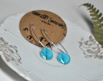 ENCHANTED. Eclipse dangle earrings. (Sterling Silver)