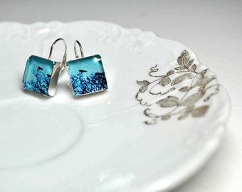 CROWSNEST. Lever-back dangle earrings. (Sterling Silver)